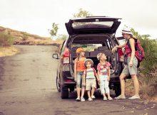 keliones su vaikais